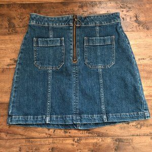 Madewell Demin Skirt with Zipper Size 26